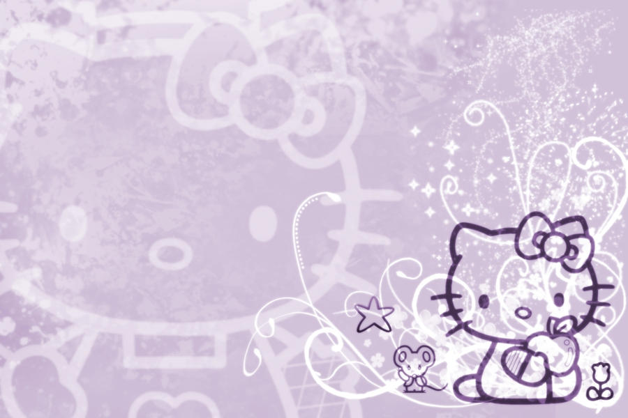 Hello Kitty Wallpaper Purple by luvphotoshop