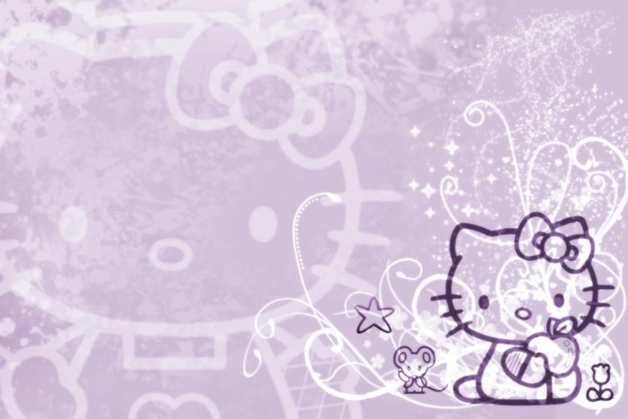 Hello Kitty Wallpaper Purple by luvphotoshop