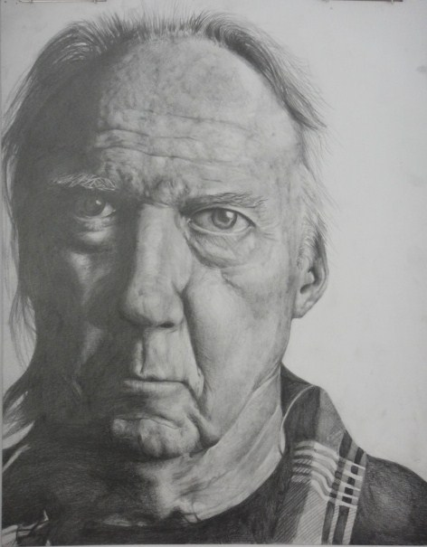 face drawing of an old man by kotrwongse on deviantart