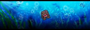 Sinking Domo-kun by toonham