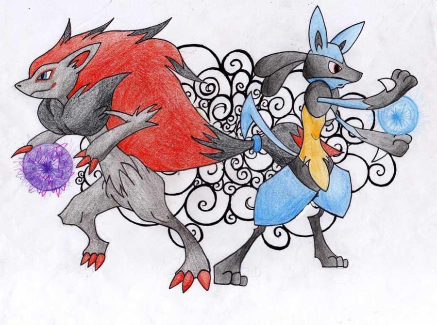 Pokemon Lucario X Zoroark Pokemon Images | Pokemon Images