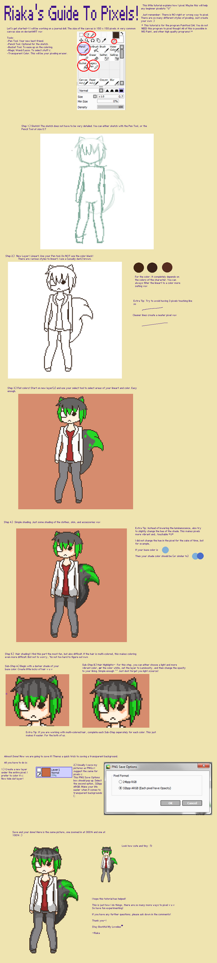 Riaka's Guide to Pixeling by tiriii