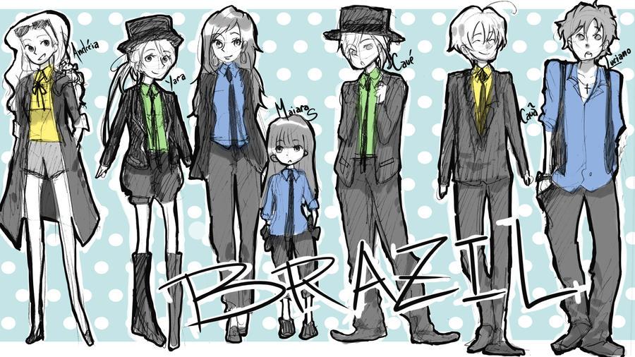 APH Brazil OCs Sketch by nayu2NA