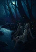 Fireflies by aeryael
