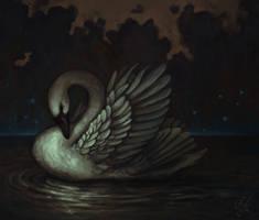 Swan by aeryael
