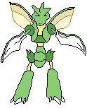 Colored Pixel Scyther by MAKENNAW12