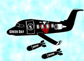 Green Day Plane by sax-playin-squid