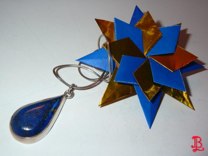 Starry Sky - Lapis Lazuli Necklace by adnileb