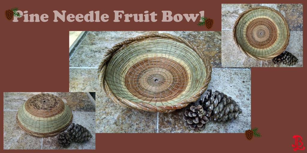 Pine Needle Fruit Bowl by adnileb
