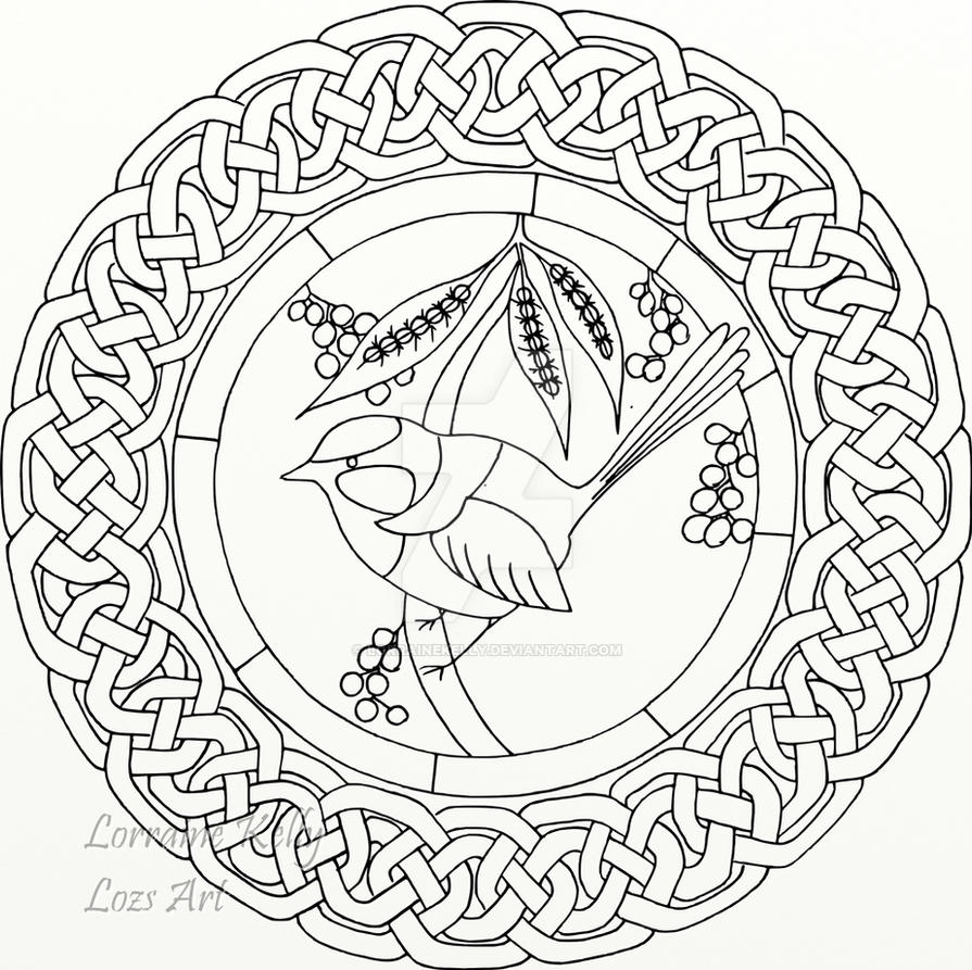 Coloring Page Celtic F C: Blue Wren Celtic Knot Coloring Page By LorraineKelly On