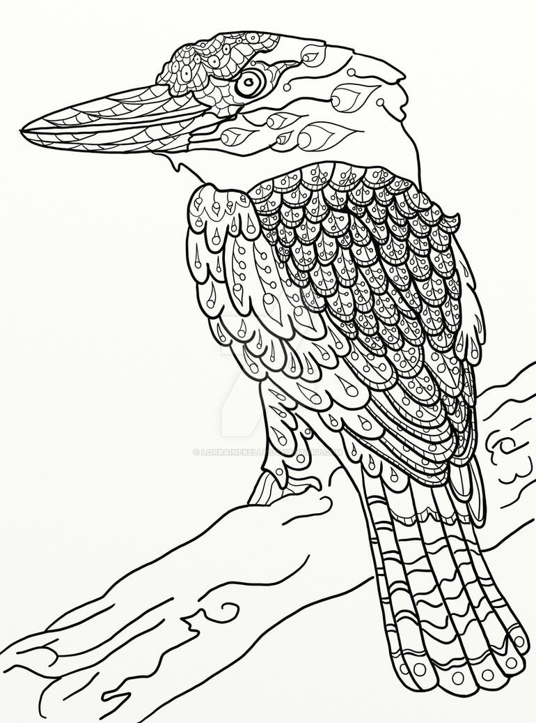 Page 17 Of Australian Birds Adult Coloring Book By LorraineKelly