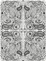 Black and White Paisley Design by LorraineKelly