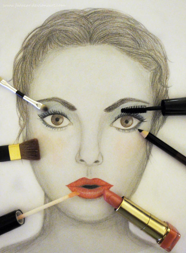 Draw on my makeup by fatpear