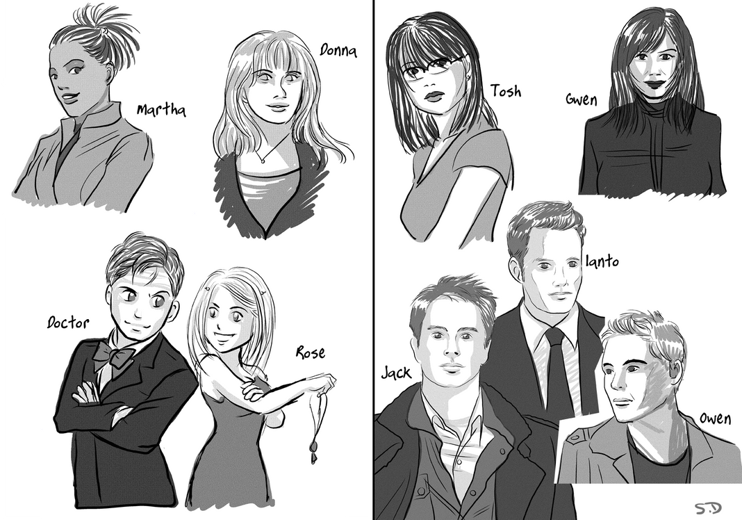 torchwood and doctor who team by saeko-doyle