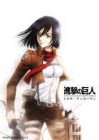 Mikasa Ackerman by saeko-doyle