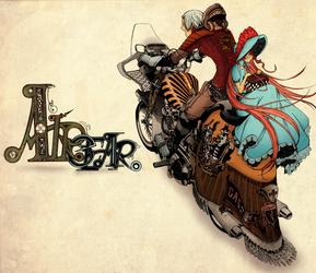 Shalott and Arthur by FEE-MUH