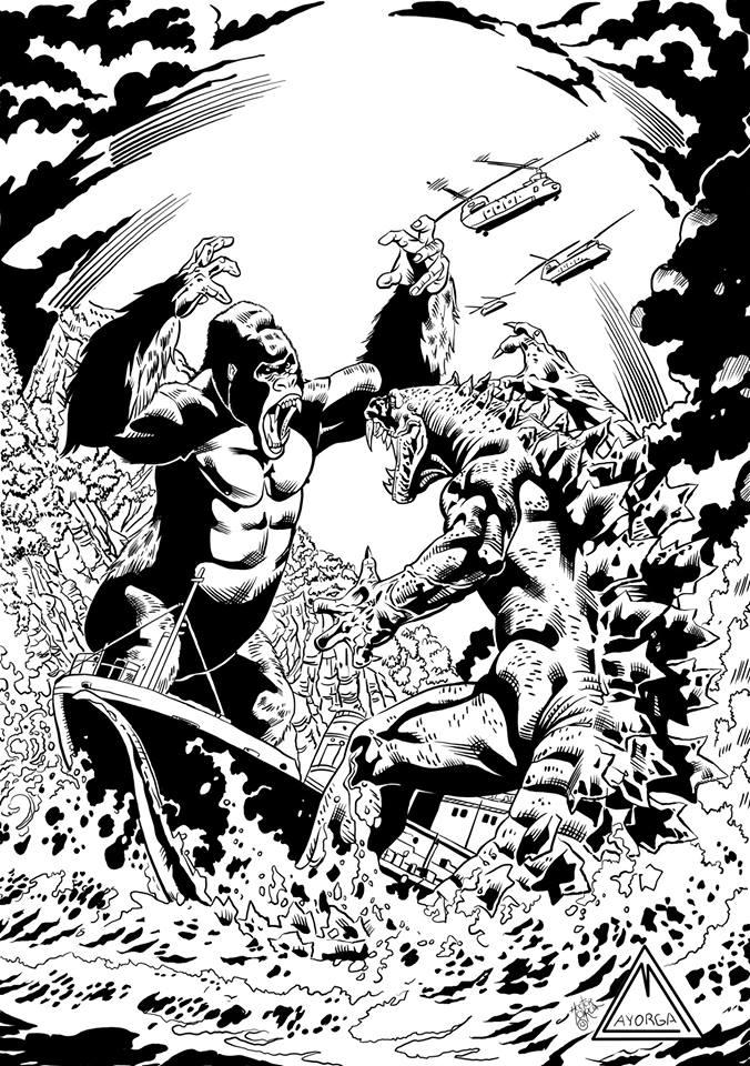 king kong vs godzilla tinta by gabrielmayorga1 on deviantart