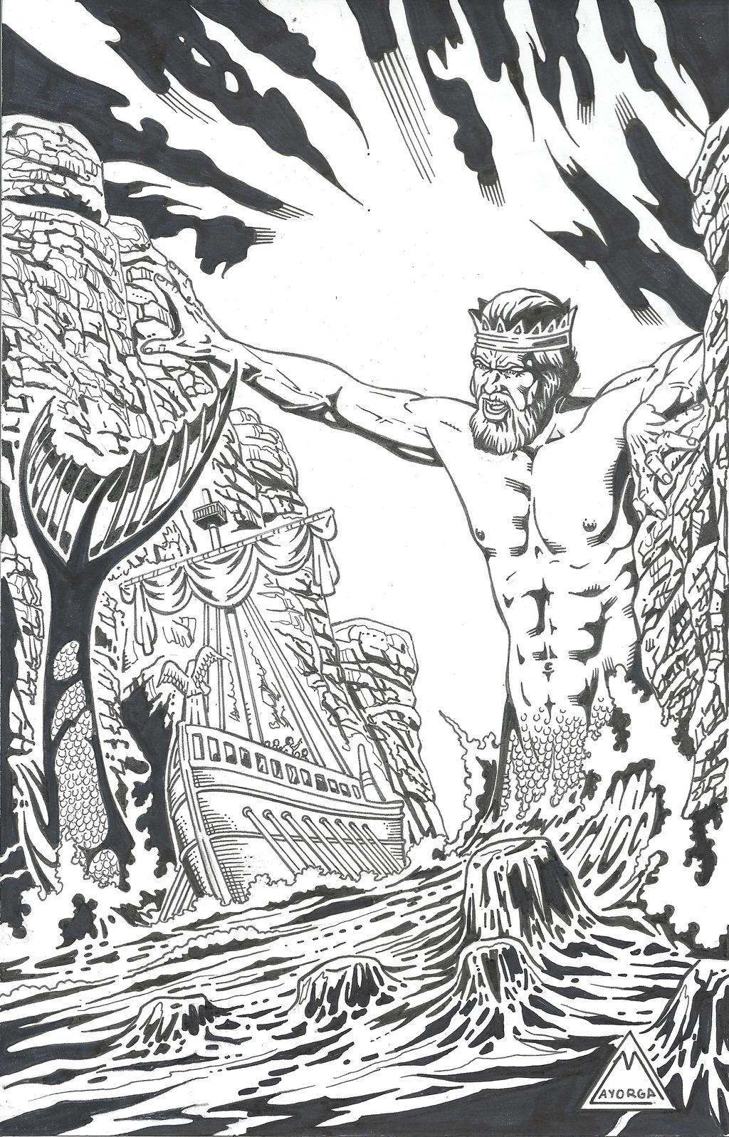Poseidon Ink by GabrielMayorga1