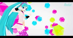 MMD - PD Miku Redial Redo (Edited Ver.) by MikuHatsune01