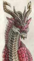 Pen and Pencil Dragon - Adem - One of Red Earth