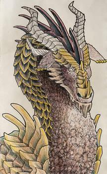 Goat Dragon Sketch