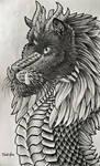 Black Dragon Doodle by Fuulikoo