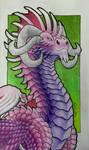 Pink Purple Dragon by Fuulikoo