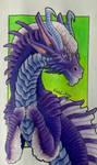 Purple-Blue Dragon by Fuulikoo