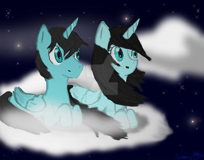 spending time with my sister rainstorm by darkstorm452