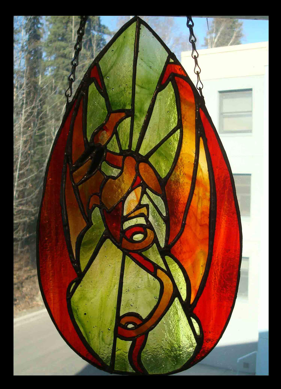 Stained Glass Dragon Complete by bug-in-my-eye