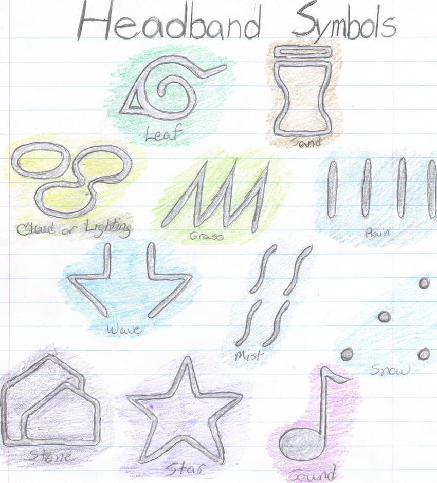 Naruto Headband Symbols By Sakuradbzgirl15 On Deviantart