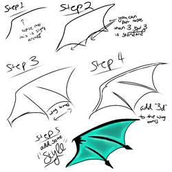 Bat/Dragon Wings Step by Step