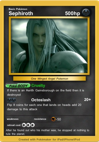 Sephiroth Pokemon Card by MasterEraqus