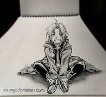 SPECIAL 3D SKETCH ~~ Edward Elric ~~ by Iza-nagi