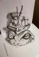 ~3D Sketch - YONDAIME HOKAGE ~ by Iza-nagi
