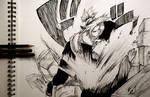 Saku CHA!!! Action Lines sketch