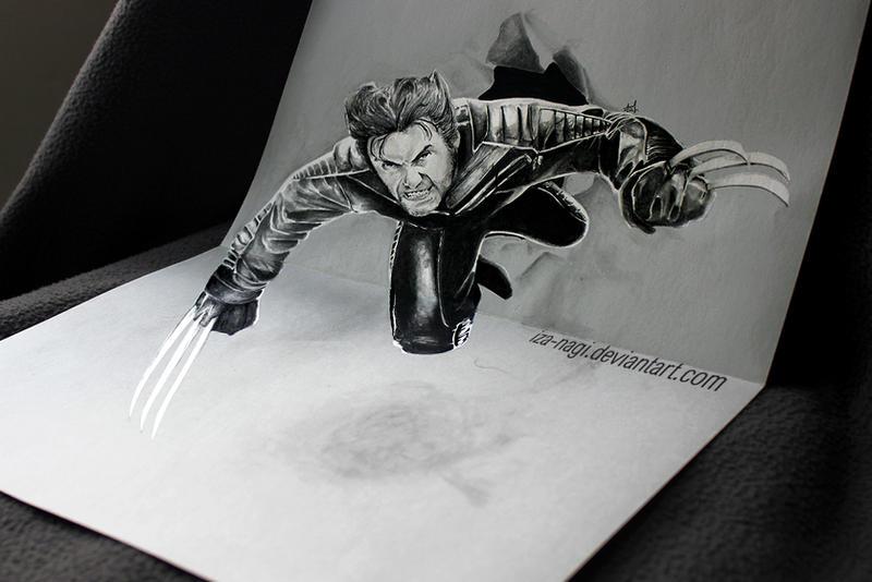 Coacuatchoo 3d drawing on paper by iza nagi