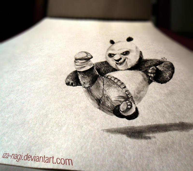 3D Drawing  - PO - KFP by Iza-nagi