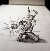 3D Sketch - KAKASHI ANBU by Iza-nagi