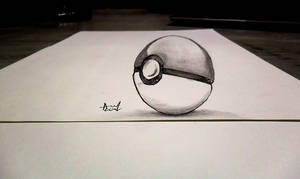 OLD 3D Sketch - Pokeball by Iza-nagi