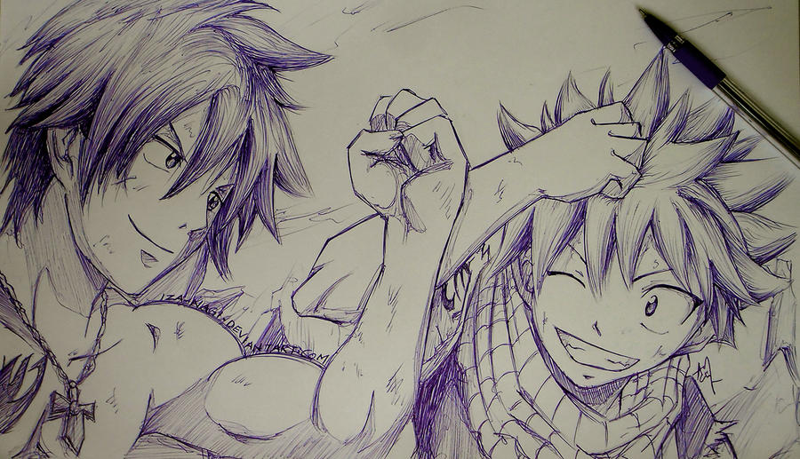 Gray Natsu Ball Point Sketch By Iza nagi On DeviantArt
