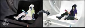 NEGATIVE/INVERT 3D ART - Sasuke RTN