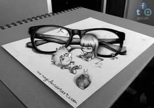 Inemuri - Naruhina 3D DRAWING on PAPER