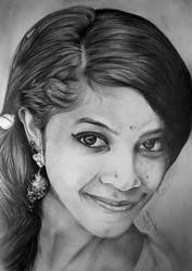 Smile - TRADITIONAL PORTRAIT DRAWING