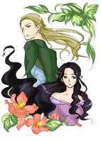 Greenleaf and Evenstar by M-azuma