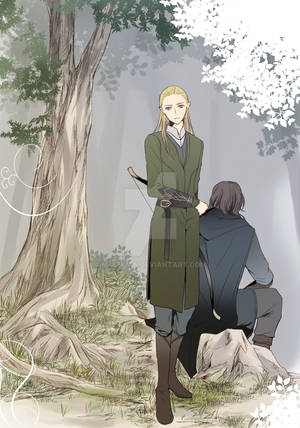 Aragorn and Legolas 1 by M-azuma