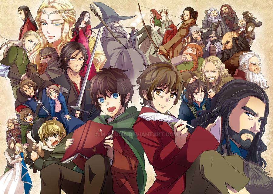 Poster illust at Tolkien pettit only event by M-azuma
