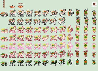 Amaterasu sprites by Anaugi