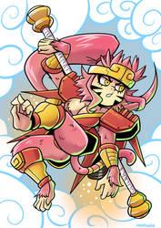 Mecha Son Wukong Girl by Anaugi