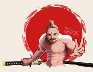 Samurai Reedo (WIP) by rain-ant